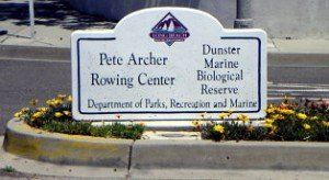 Pete Archer Rowing Center sign