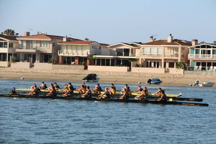 The varsity eight race at the Chapman Regatta was so close, Long Beach State University, University of California Santa Barbara and Orange Coast College have mixed thoughts about the end result.